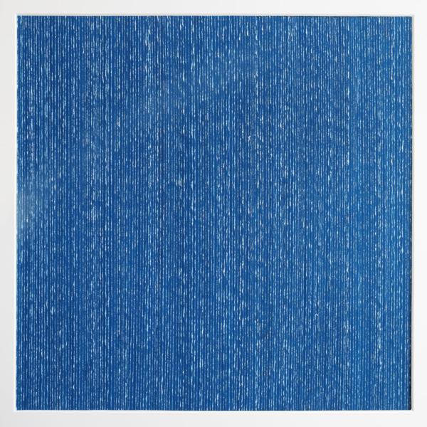 Els Moes, Paperwork, 2018, blue, 60x60cm, incl frame