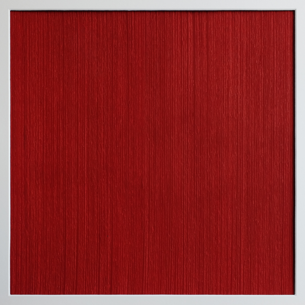 Els-Moes, paperwork 2019 red, 60x60cm incl. frame